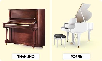 В чем разница между пианино и фортепиано