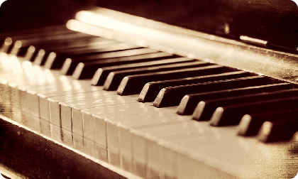 Гамма до мажор на фортепиано