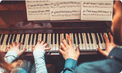 Изучение нот на пианино